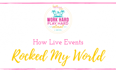 How events rocked my world (in a good way!)
