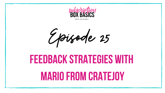 Feedback Strategies with Mario from Cratejoy