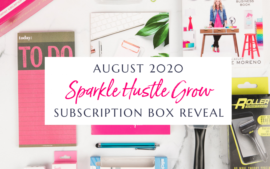 August 2020 Sparkle Hustle Grow Subscription Box Reveal