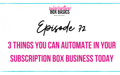 3 Things You Can Automate in Your Subscription Box Business Today