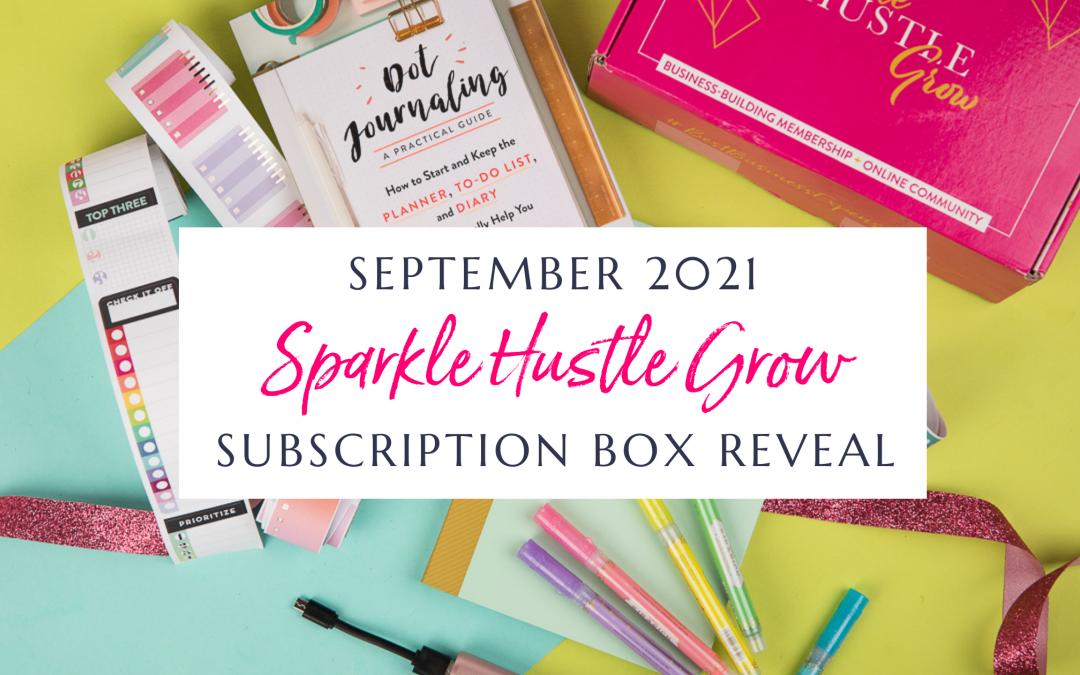 September 2021 Sparkle Hustle Grow Subscription Box Reveal