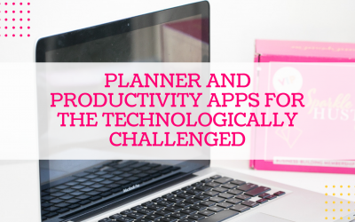 Planner and Productivity Apps for the Technologically Challenged